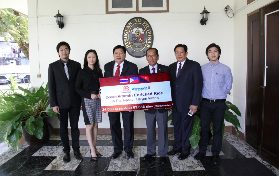 Wonnapob Co., Ltd. and Homestate Co-operation Ltd. donated