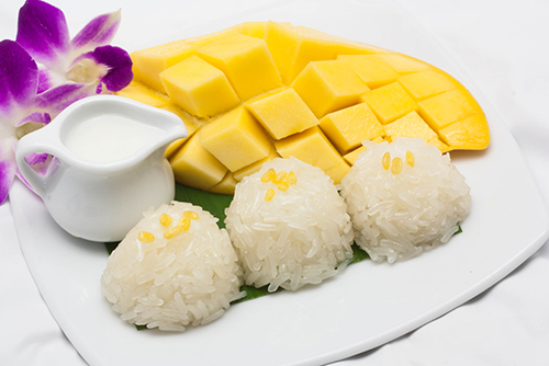 Thai Coconut Sticky Rice and Mango